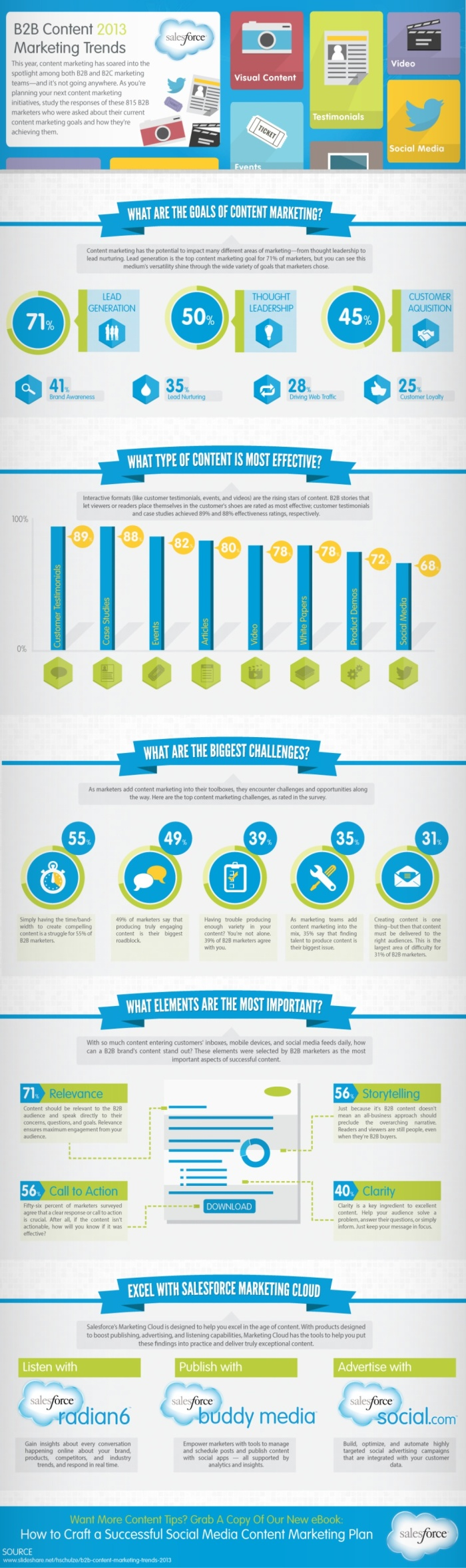 B2B Content Marketing Trends 2013 Infographic
