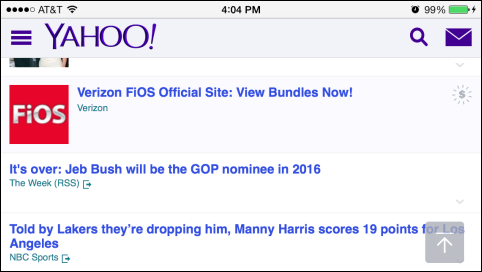 Yahoo Says See-ya to Mobile Banner Ads